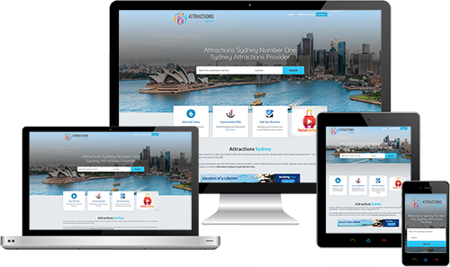 Attractions Sydney displayed beautifully on multiple devices